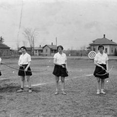 Women's archery practice