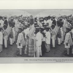 Young Filipinos at a Fourth of July celebration, ca. 1900