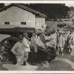 Ital. Artilerie alle Aufnahmen von itl. sol. 1915 in Kartitsch Berchtold Maier X.