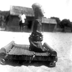 Small Kuba-Shoowa Statue in Village Square