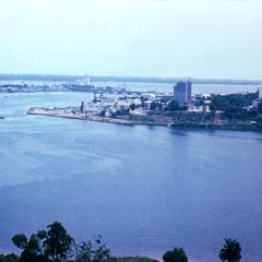 A View of Abidjan Across the Harbor Before the New Bridge