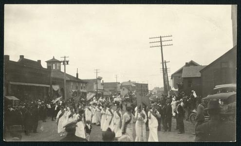 Labor Day parade with suffragettes