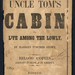 Uncle Tom's cabin or, Life among the lowly