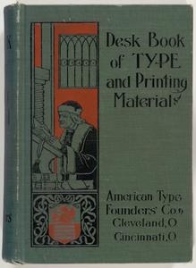 Desk book of type and printing material