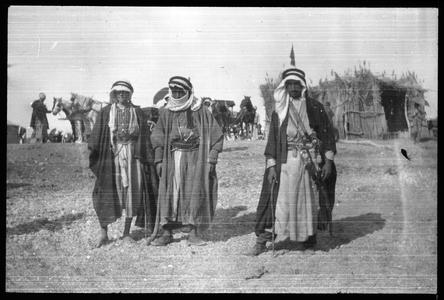 The Holy Land - Bedouins on shore of Dead Sea
