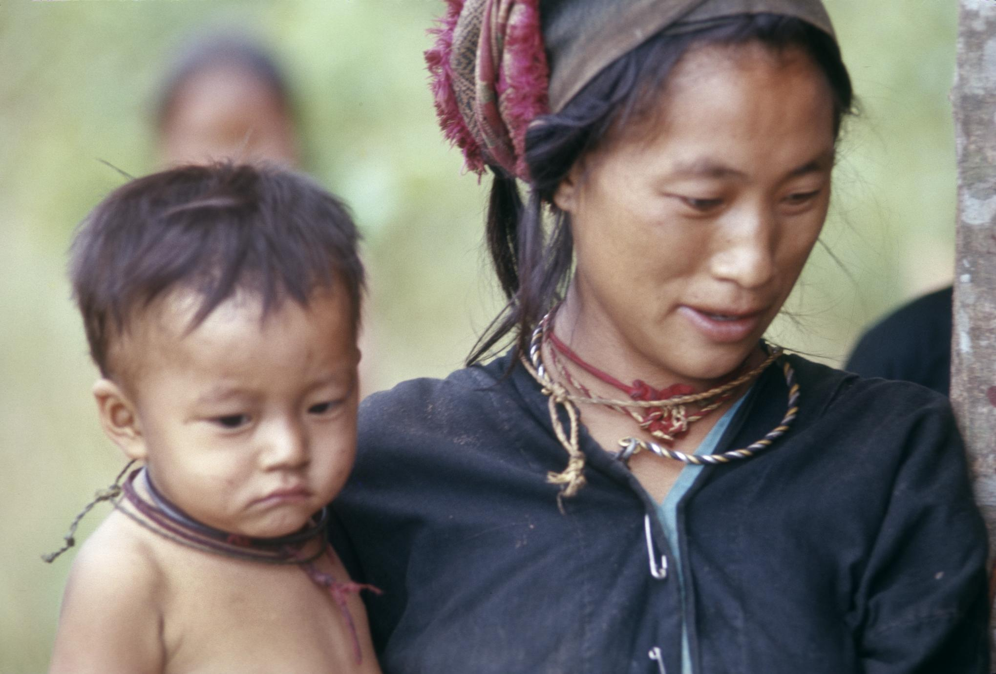 Hmong woman and child