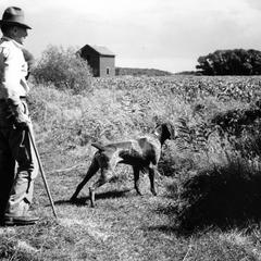 Aldo Leopold with Gus at Riley