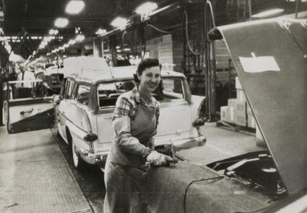 American Motors Corporation factory employees at work