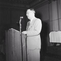 Ernest F. Swift speaking at Conservation Congress