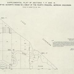 [Public Land Survey System map: Wisconsin Township 48 North, Range 02 West]