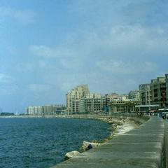 Skyline of the City of Alexandria on the Mediterranean Sea