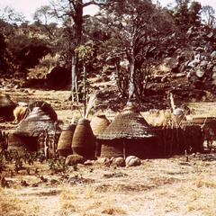 Mud Houses and Granaries in a Village near Mubi in Northeastern Nigeria