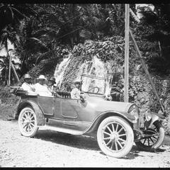 TEB and MCB and Mrs. Adams near Bath, Jamaica