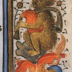 Italian Illuminated Manuscript Detail
