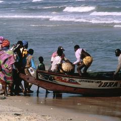 Community Gathered to Unload the Catch from a Fishing Boat