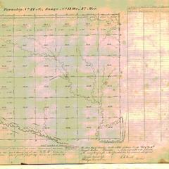 [Public Land Survey System map: Wisconsin Township 27 North, Range 14 West]