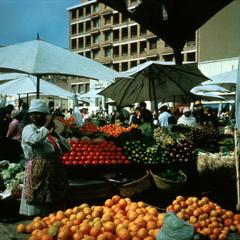 Vendors Selling Fruit and Vegetables in Tananarive Market