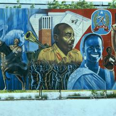 Political Sign with Portrait of Siad Barre and Historical Heroes, Part 3