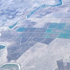 Aerial View of Shabeelle River and State Farms
