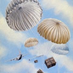Oil painting : Parachute drop
