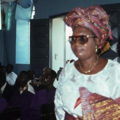 Woman during the Thanksgiving service