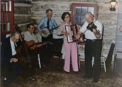 Leonard Finseth, Larry Finseth, Rudy Jackson, Arnold Olson and Evelyn Olson