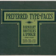 Preferred type faces