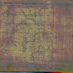 [Public Land Survey System map: Wisconsin Township 33 North, Range 17 West]
