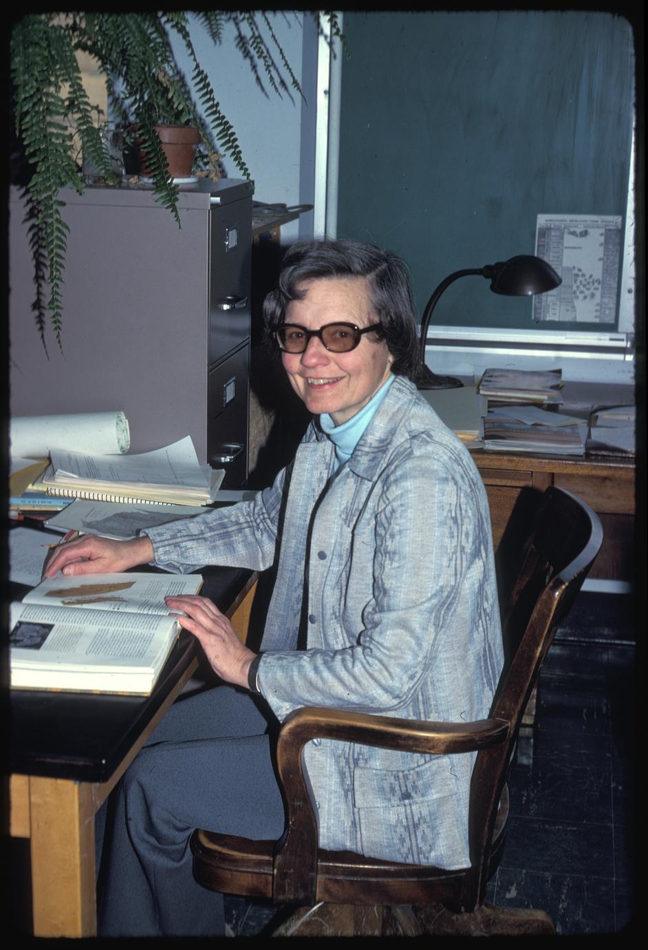 Gina at Birge Hall, Department of Botany, University of Wisconsin - Madison