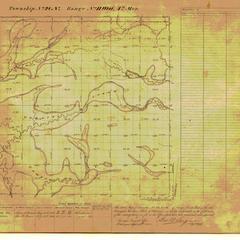 [Public Land Survey System map: Wisconsin Township 28 North, Range 11 West]