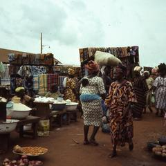 Cloth section of Ilesa market