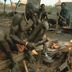 Blacksmith Working with Iron