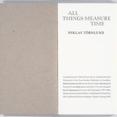 All things measure time