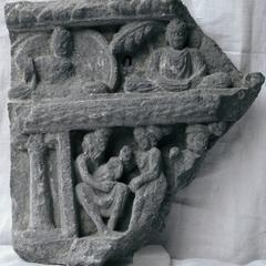 NG019, Interpretation of Siddhārtha's Horoscope and Row of Buddhas