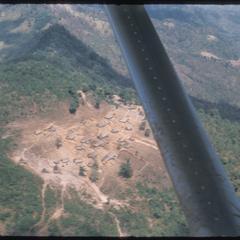 Air view : Hmong (Meo) settlement