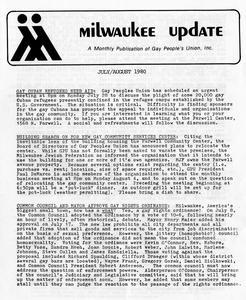 Milwaukee Update : July/August 1980