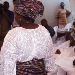 Woman at the wedding