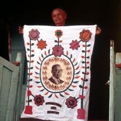 Fabric Wall Hanging with Portrait of President Tubman
