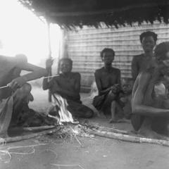 Kuba-Cwas Seated Around Morning Fire