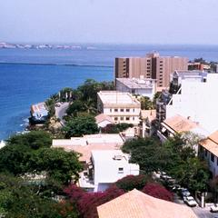 Scene from Dakar Showing Atlantic Coast and Gorée Island