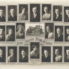 1933 New Glarus High School graduating class