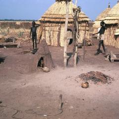 Earthen Doll Houses in Courtyard of Temporary Dry Season Shelters