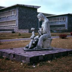 Sculpture of Woman and Child on University of Kinshasa Campus