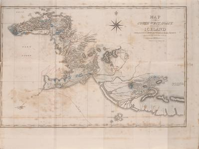 Map of the southwest coast of Iceland