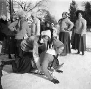 Women on sled