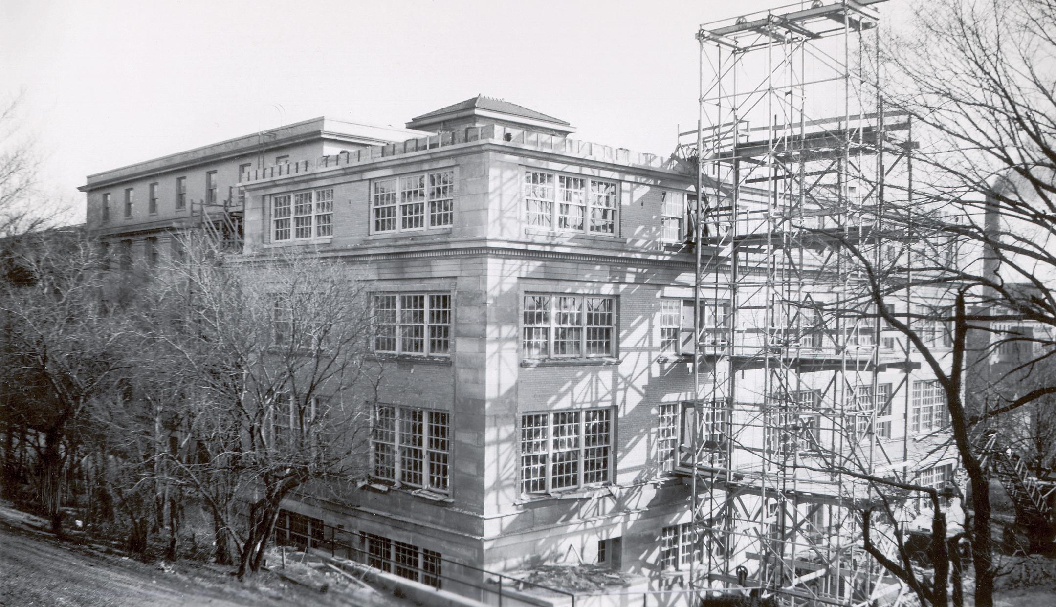 Home Economics Building construction