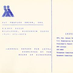 Annual report for 1974