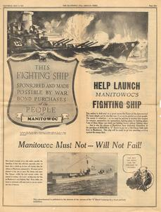 Help launch Manitowoc's fighting ship