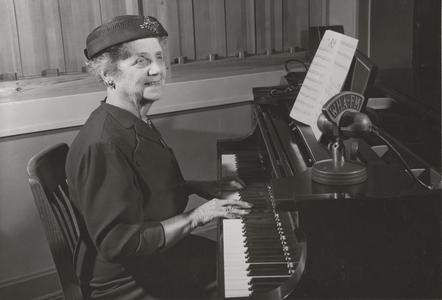 Fannie Steve on the Piano