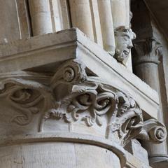 Oxford Cathedral choir pier capital